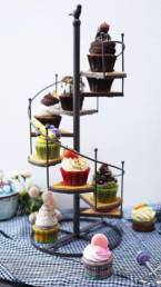 Tower of different cupcakes