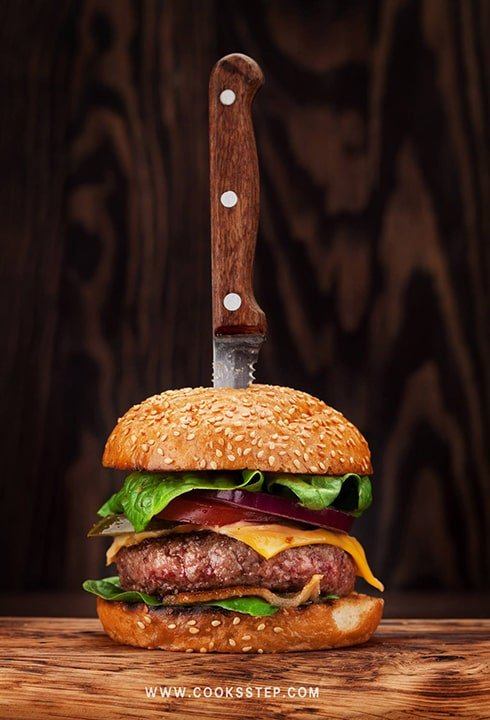 Beef burger by Cook's Step