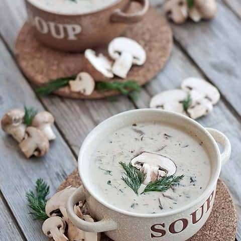 Mushroom soup by Cook's Step-min