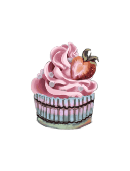 Pink Cartoon Cupcake
