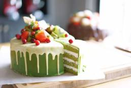 White Chocolate Green Tea Gluten free cake by Cook's Step