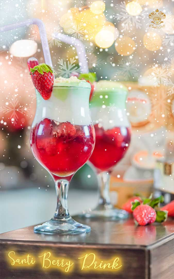 Strawberry Christmas Drink by Cook's Step